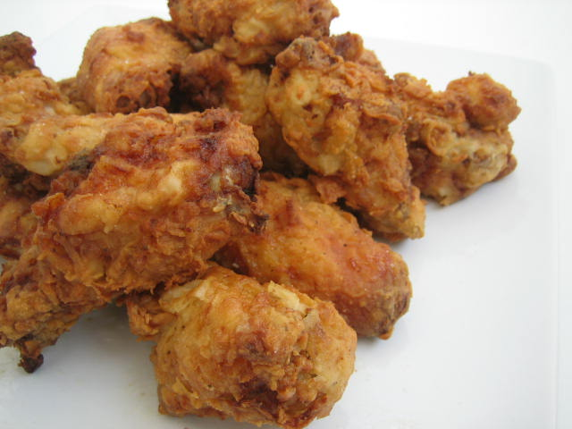 Frying up just the wing portion is much easier than using an entire