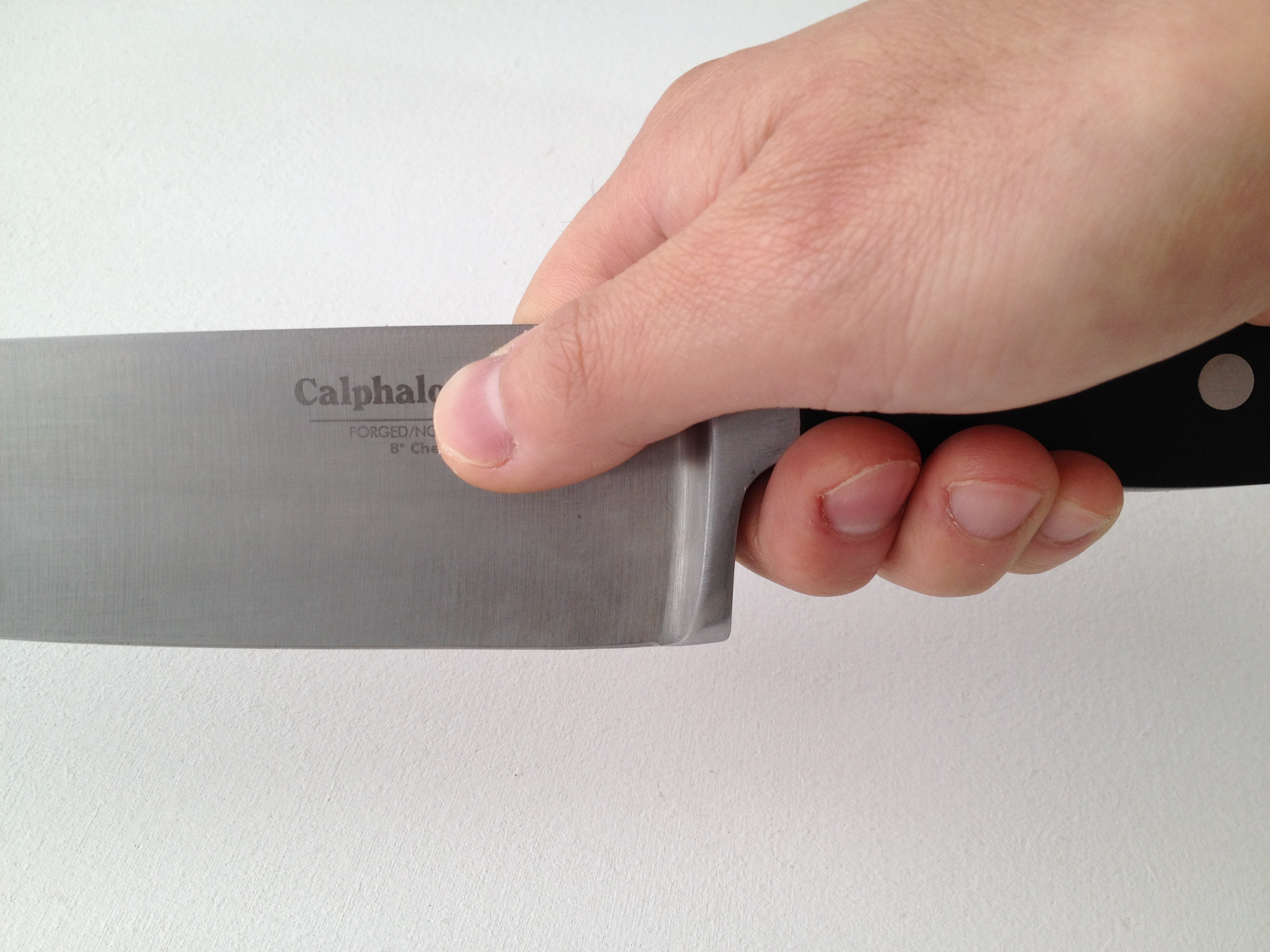 Holding A Chef S Knife Askculinary
