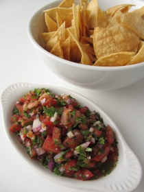 Pico de Gallo and Homemade Tortilla Chips