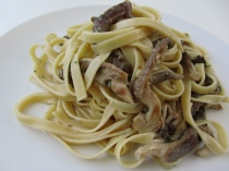 Fettuccine with Oyster Mushrooms and Sage