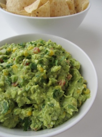 Guacamole with Corn and Feta Cheese