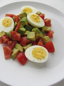Egg Avocado Tomato Trio Salad