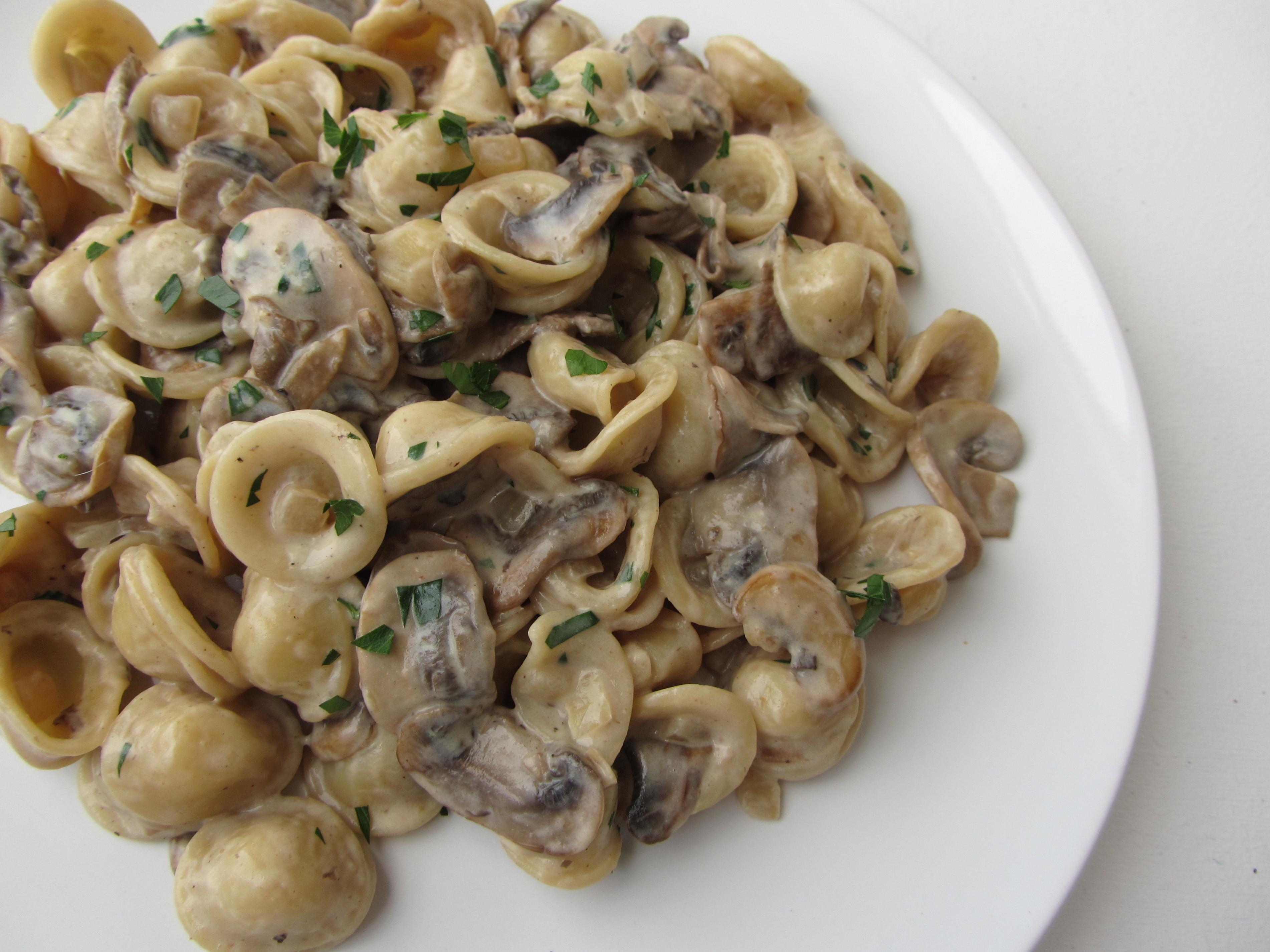 Orecchiette Pasta in Creamy Mushroom Sauce | I'm Not A Cook