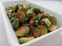 Brussels Sprouts with Balsamic-Glazed Bacon