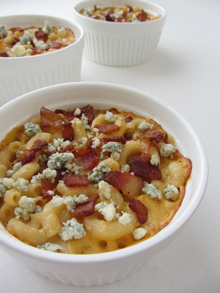 Macaroni and Cheese with Bacon and Blue Cheese