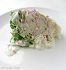 Wedge Salad with Blue Cheese Buttermilk Dressing